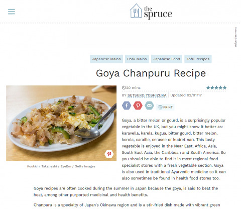 """My sold photograph on Getty images that was published for """"Goya Chanpuru Recipe"""" on the spruce!"""