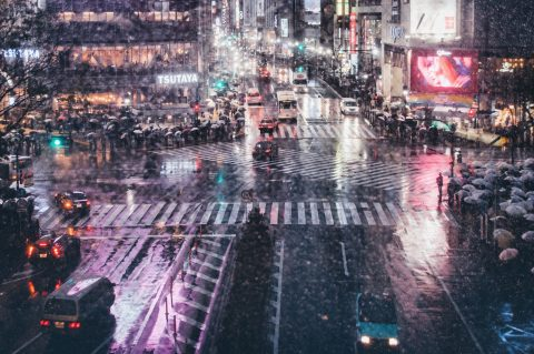"I just created goods as ""Rainy Night at Shibuyacrossing"" on Society6!Check this out if you want."