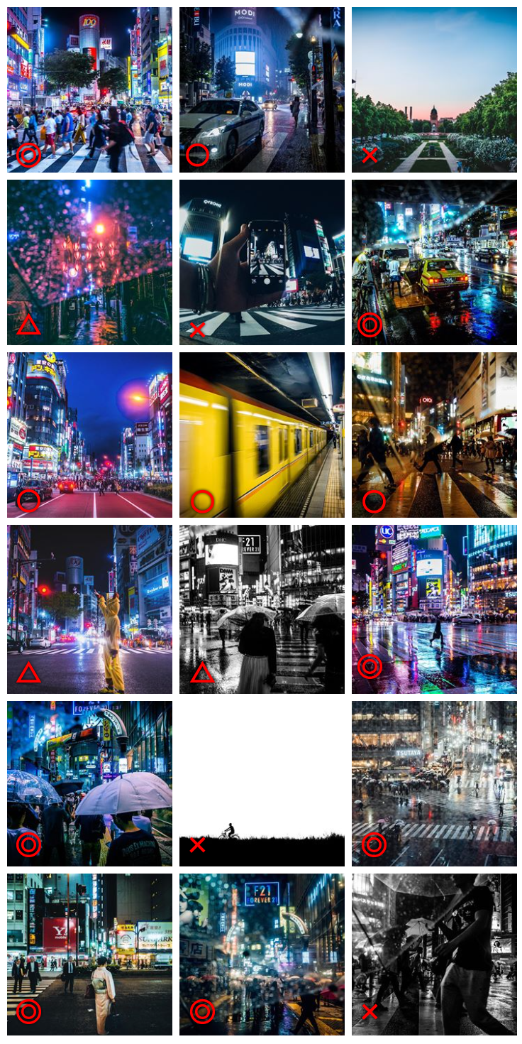 インスタアップ!渋谷スクランブル交差点から109方面のカラフルな街並み