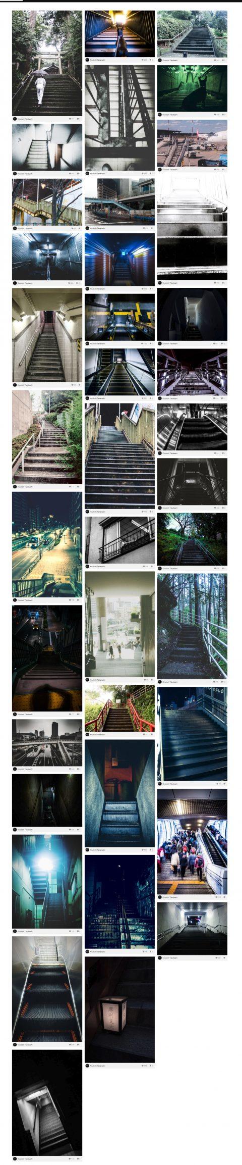インスタグラムに怪しげな階段写真をアップ!I posted ominous stairs photograph to Instagram