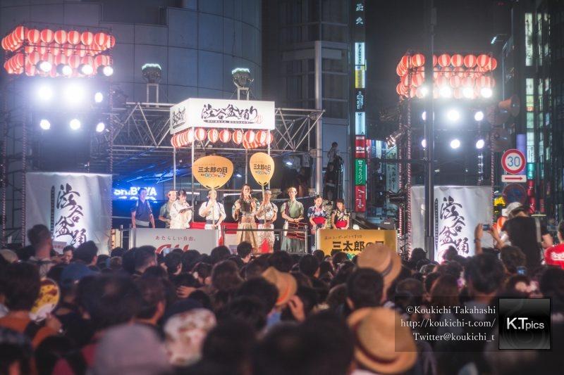 渋谷盆踊り大会の模様を撮影してきました!SHIBUYA109前で盆踊り初開催!CANON EOS 70D/レンズ:CANON f1.8 50mm 撒き餌レンズ/Lightroom現像