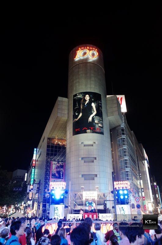 渋谷盆踊り大会の模様を撮影してきました!SHIBUYA109前で盆踊り初開催!RICOH GR フィルター:ポジフィルム調 作例
