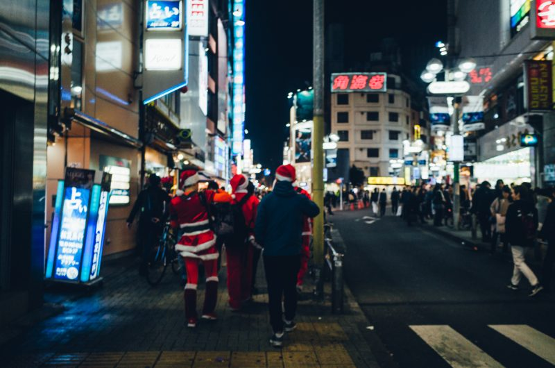 Photos of Shibuya Christmas Night in 2017!and looking back 2015/2016 Shibuya cristmas night