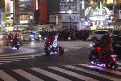 2017年クリスマスイブの渋谷スクランブル交差点