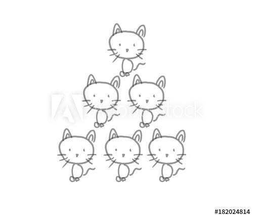 AdobeStockで六つ子の子猫ちゃんたちのイラストが売れた!もしかして色無しイラスト売れるんじゃないか?考察
