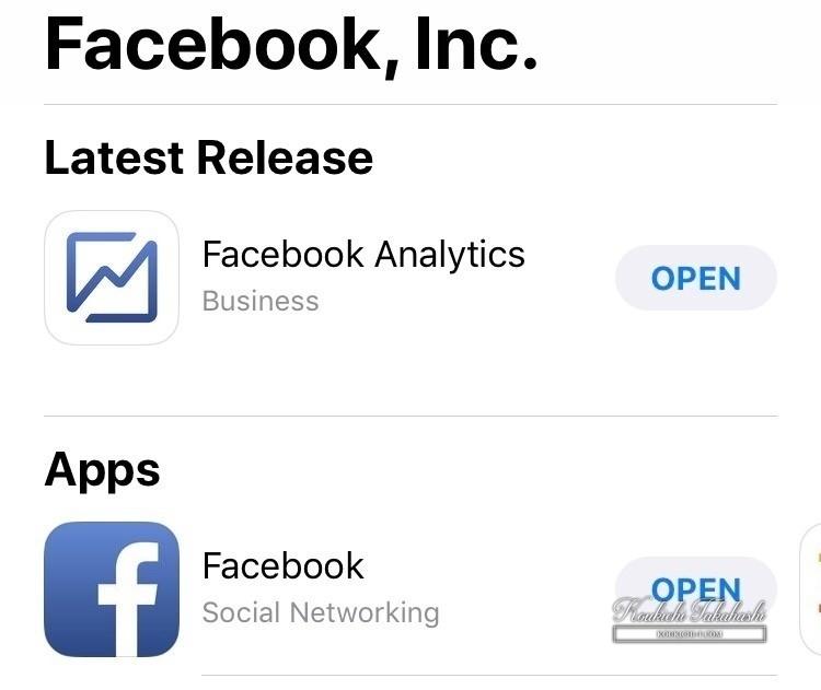 Facebook Analyticsアプリ配信開始!iOSAndroid SNSアプリ最新情報