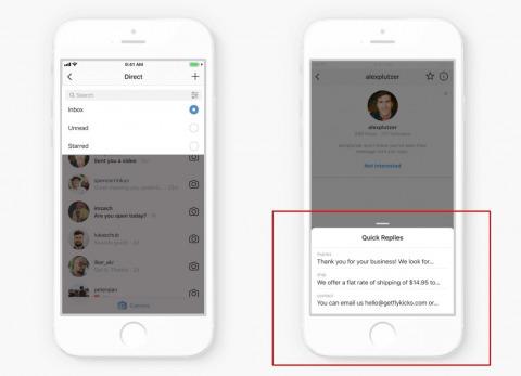 インスタグラムにメッセージフィルターが新機能として登場!全DM/未読/スター付きを選択して表示。定型文を設定できるクイック返信機能も準備中!Instagram最新機能2018。アプリ/SNS最新情報