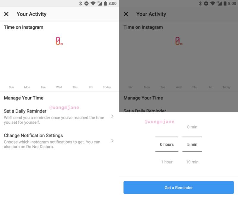 インスタグラム新機能「使用時間管理」に指定時間経過で通知する「リマインダー機能」テスト中!Instagram最新ニュース速報