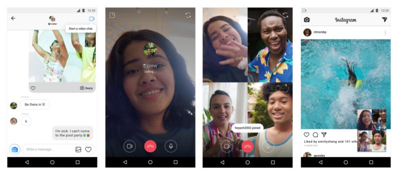 インスタグラム DMにビデオチャット(ビデオ通話)機能実装開始!最大4人で通話可能!インスタグラム新機能 最新情報2018