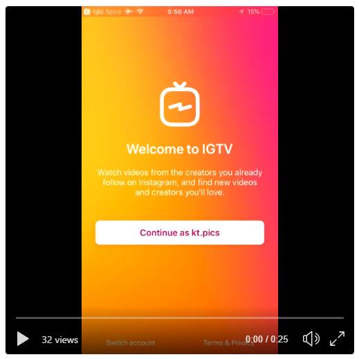 インスタグラム IGTVの使い方!動画有。初回起動とチャンネルの感じ動画投稿方法動画閲覧画面投稿動画はURL発行されてブラウザ閲覧も可能!Instagram新アプリIGTV基本操作方法最新情報