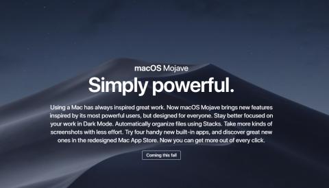 Apple 新macOS 次期バージョン「Mojave(モハベモハーヴェ)」を発表!AppleMacmacOS最新ニュース速報 2018 #WWDC18