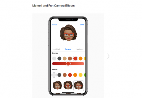 Apple iOS12 new features : Memoji and Fun Camera Effects
