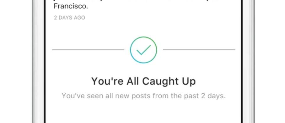 インスタグラム 過去2日分のフィード投稿「既読表示」機能「You're All Caught Up」を実装!Instagram新機能アップデート最新情報2018