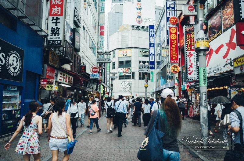 Adobe Lightroomフィルム風ヴィンテージ風レタッチ現像事例・サンプル・作例 渋谷のフォトグラファー 渋谷センター街