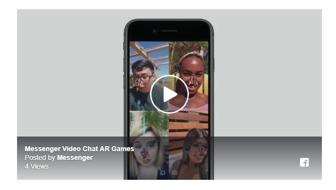 Facebook Messenger ビデオチャットでARゲーム可能に!友達と最大6人同時プレイ!Facebook新機能最新情報 2018