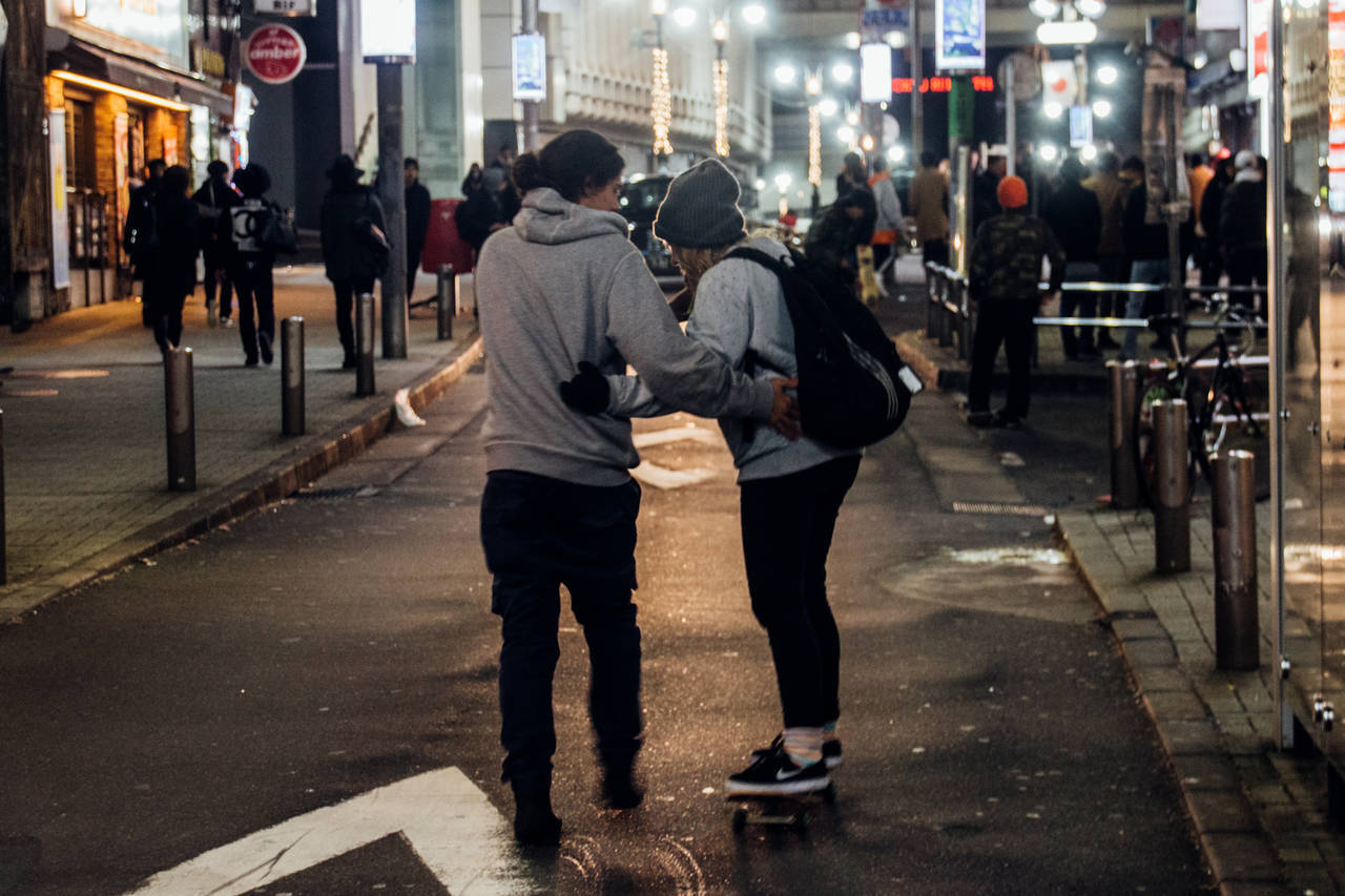 Love Actually is all around - Shibuya Tokyo Japan couple at