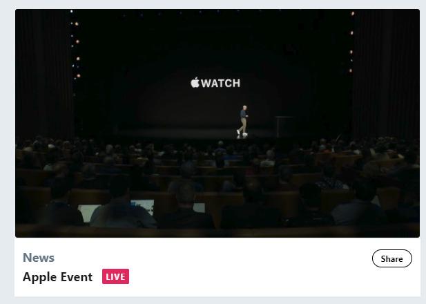 Apple公式TwitterでApple Eventライブ配信開始!アップルiPhone新製品発表会最新ニュース速報