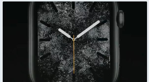 Apple Watch series 4 アップル新製品発表。アップルウォッチ画像 ウォーター