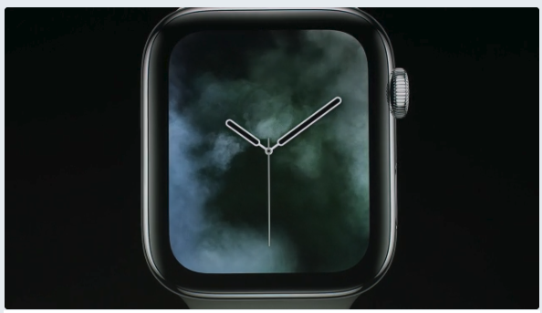 Apple Watch series 4 アップル新製品発表。アップルウォッチ画像 スモーク