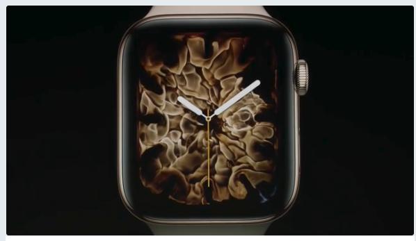 Apple Watch series 4 アップル新製品発表。アップルウォッチ画像 炎 (2)
