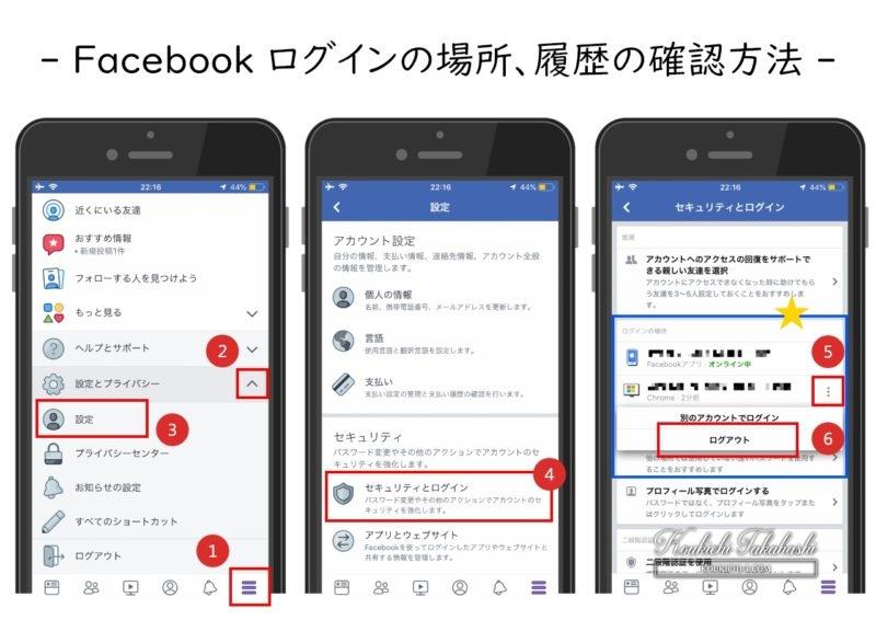 Facebook ログインの場所・履歴確認手順/二段階認証(二要素認識)(2FA)設定方法/パスワード変更のやり方。フェイスブック乗っ取りやハッキングに備えて設定を見直そう。Facebook/SNS/アプリ/セキュリティ対策まとめ 2018