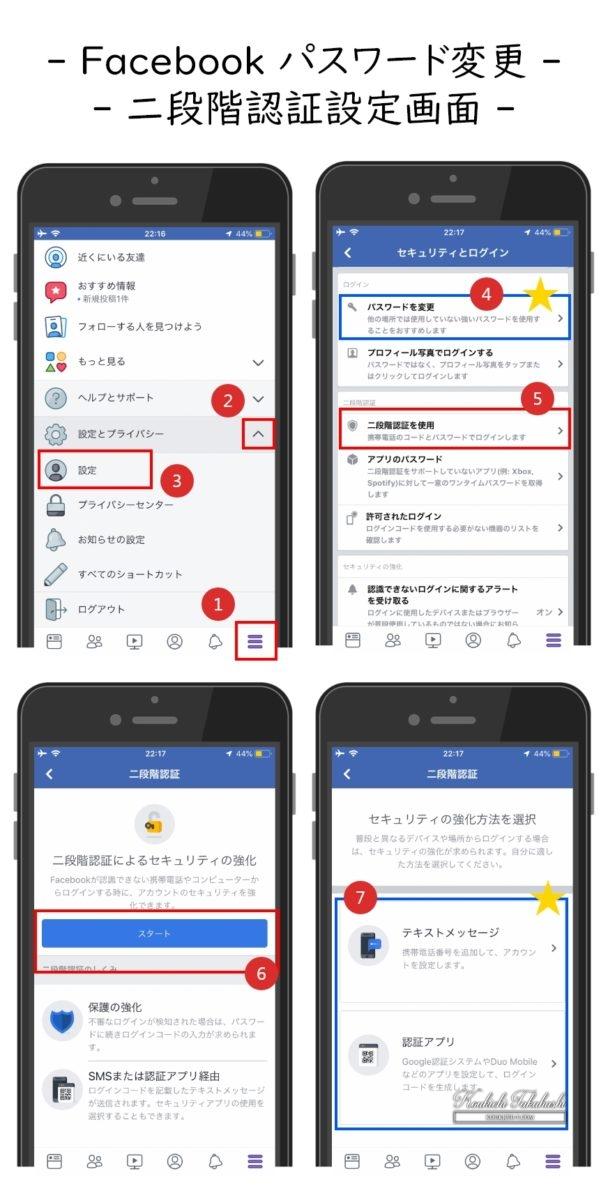 Facebook ログインの場所・履歴確認手順/二段階認証(2FA)設定方法/パスワード変更のやり方。フェイスブック乗っ取りやハッキングに備えて設定を見直そう。Facebook/SNS/アプリ/セキュリティ対策まとめ 2018