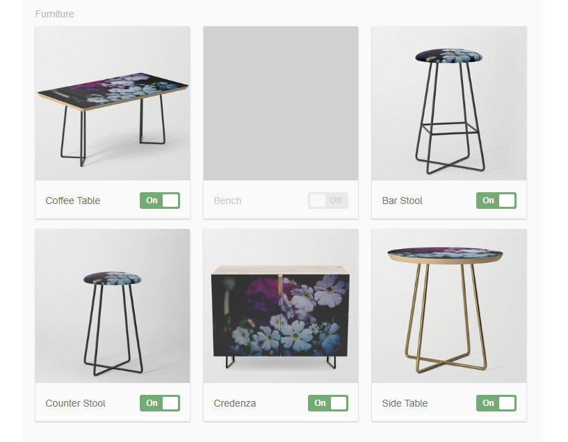 """Society6 added new category """"Furniture""""!We can create goods Coffee Table/Bench/Stool/Credenza/Side Table!App/Web service of sell photography goods for photograpers/creators latest news 2018"""