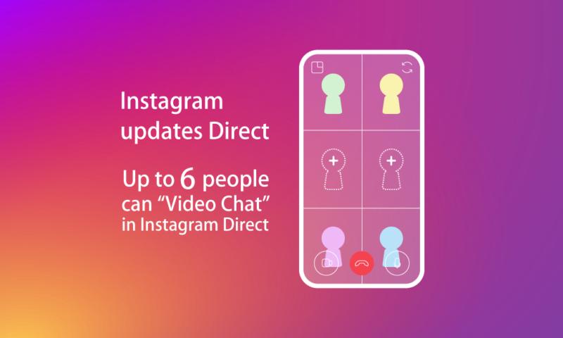 インスタ ビデオチャット最大6人同時通話可能に!先日導入のインスタグラム ダイレクトでのビデオ通話新機能、当初4人から最大6人へ。Instagram最新ニュース速報2018