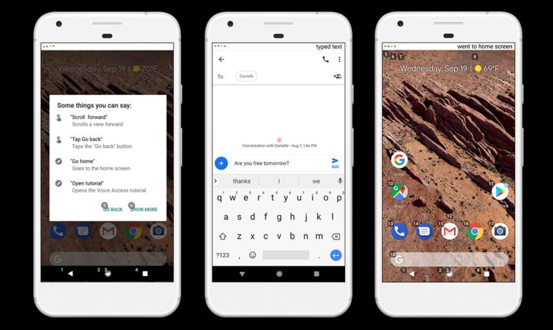 Googleボイスアクセス。音声でテキスト入力・編集アプリ操作が可能な「Voice Access」を一般公開!ハンズフリーでデバイス操作!GoogleAndroidアプリ最新情報2018