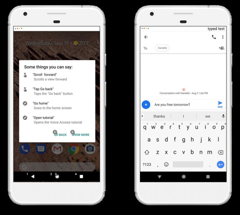 Google 音声でテキスト入力・編集アプリ操作が可能な「Voice Access」を一般公開!ハンズフリーでデバイス操作可能なアクセシビリティサービス。GoogleAndroidアプリ最新情報2018