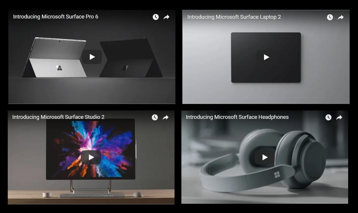 Surface Pro 6Surface Laptop 2Surface Studio 2登場!動画有!本日開催のMicrosoft Surface Eventで情報公開!MicrosoftSurface最新ニュース速報2018