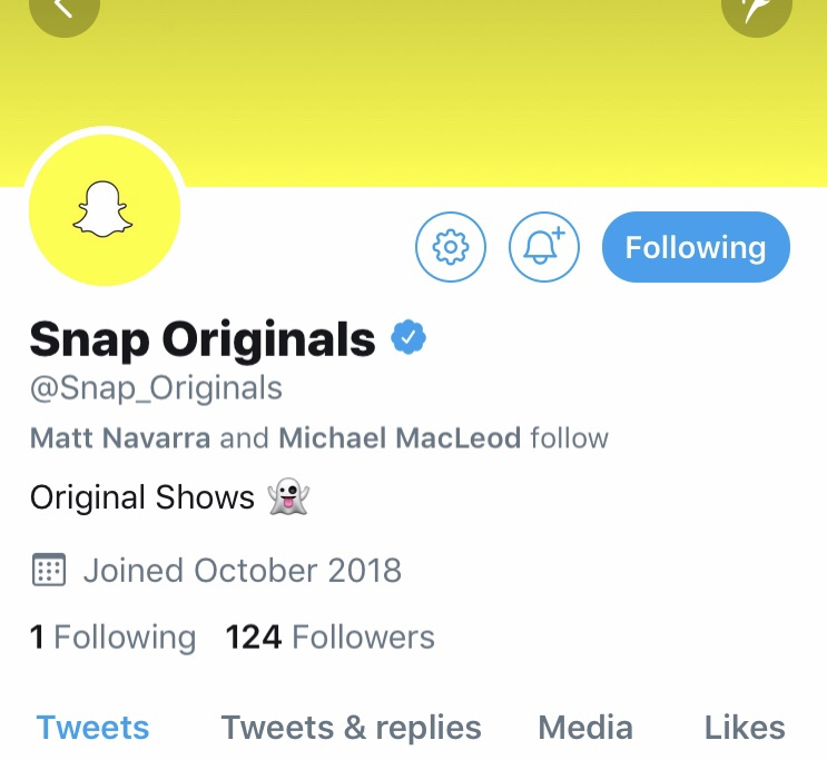 スナチャがTwitter新アカウント @ Snap_Originalsを作成。Snapchat スナップチャット最新ニュース速報2018