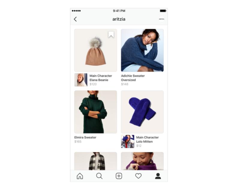 Instagramショッピング ショップタブのUIUXデザイン改善。年末商戦に向け
