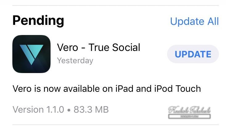 Vero is now available on iPad/iPod Touch.Vero/social media/app latest news 2018