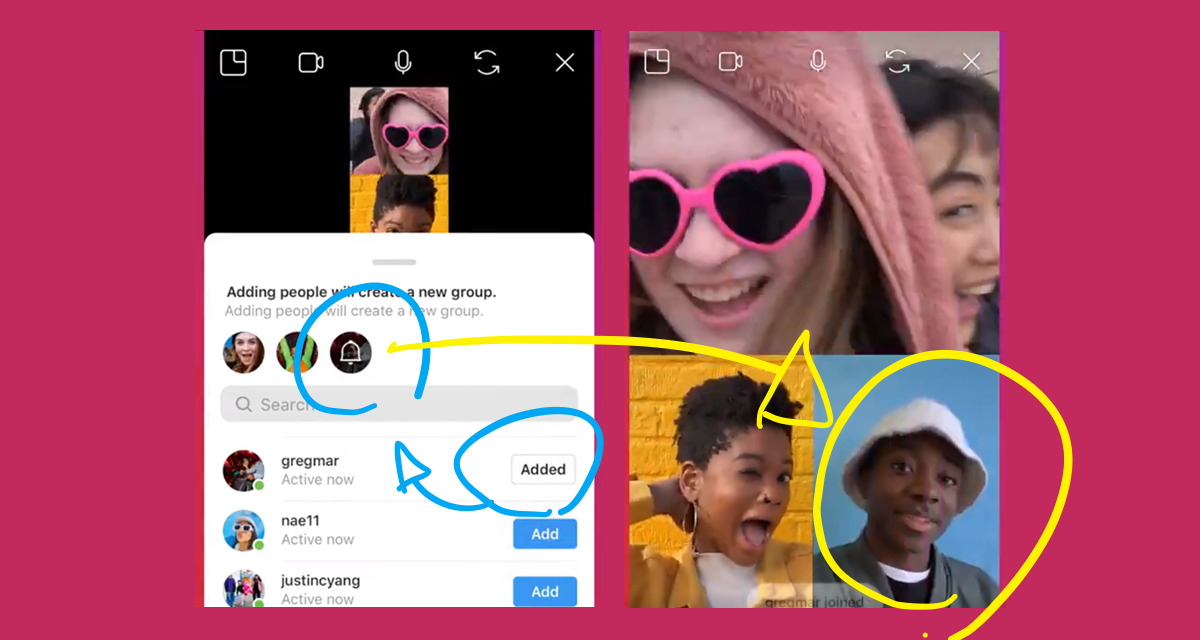 """Instagram adds new feature """"Invite friends to an ongoing video chat in Direct"""".Instagram Direct new features/updates/changes latest news 2018-2019"""