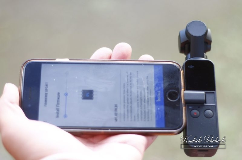 DJI Osmo Pocketスマホと接続してDJI Mimoアプリで撮影可能