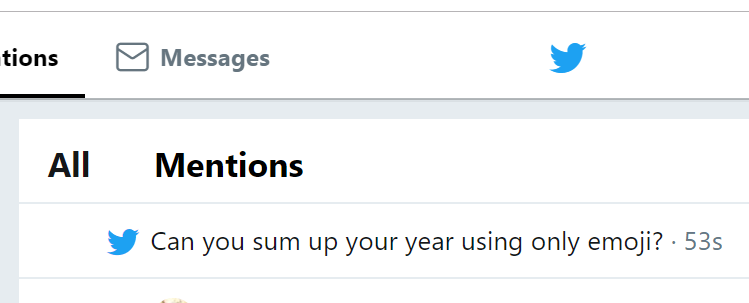 Twitter new feature for new years day and end of 2018.Can you sum up your year using only emoji