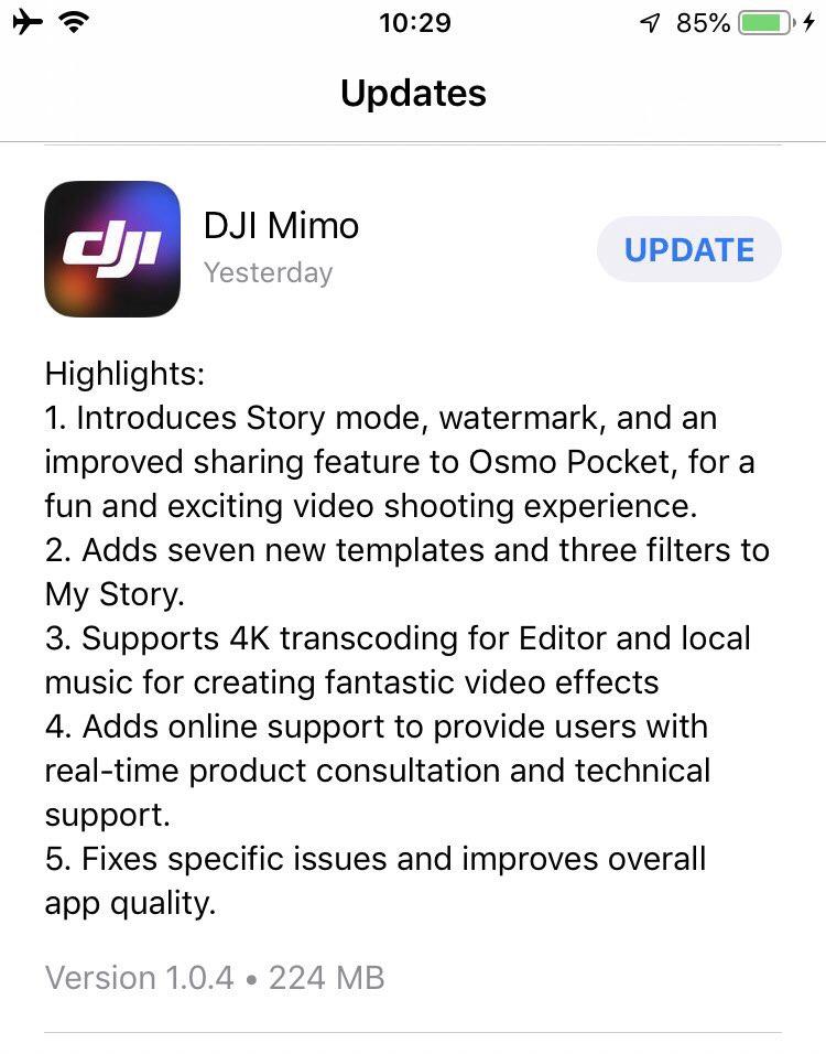 OSMO Pocket最新ファームウェアアップデートで単体Proモード切り替え可能に!ストーリー撮影モード!DJI Osmo Pocket新機能最新情報2019