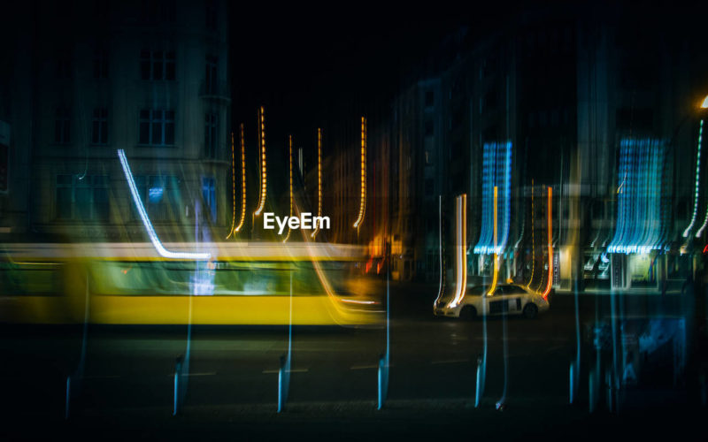 My photos are exhibited in SXSW 2019 as one of winner of EyeEm Mission Humanity Meets Technology by BCG -blurred train and taxi