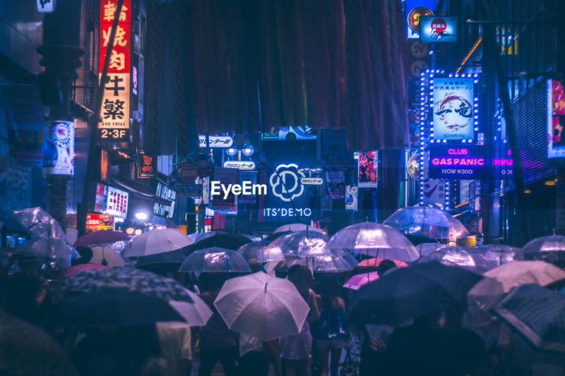 My photos are exhibited in SXSW 2019 as one of winner of EyeEm Mission Humanity Meets Technology by BCG - cyberpunk image Neo Tokyo Shibuyascape at rainy night