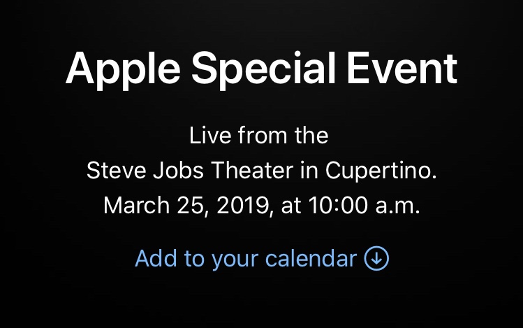 "Appple announces ""Special Event at March 25""!New iPad/Subscription news service?Apple latest news 2019"