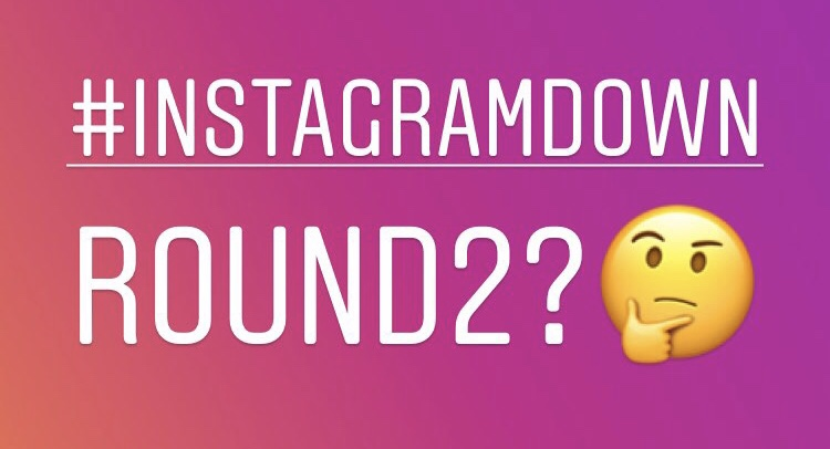 Instagram Down Again?User's tweeting can't like or comment / can't post stories.InstagramDown latest news 2019