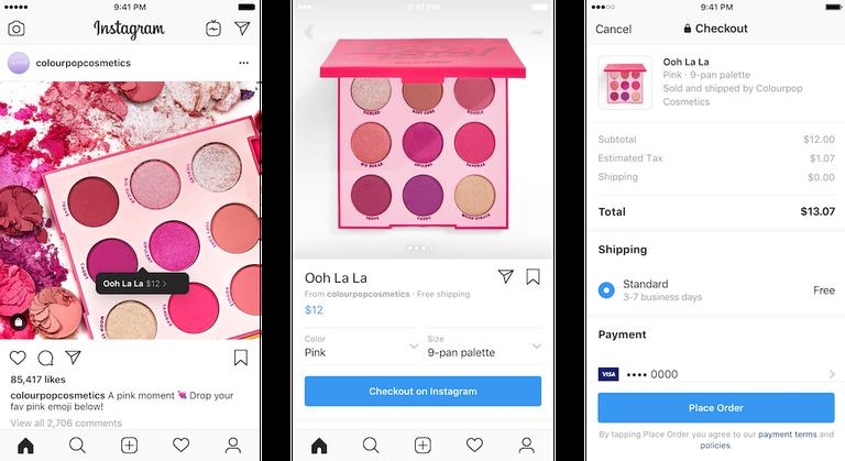 インスタ払いに動き。米一部ブランドで商品サイズや色選択可能に、アプリ内支払いまで完結、出荷/配送通知も!Instagramショッピング新機能・アップデート最新情報2019