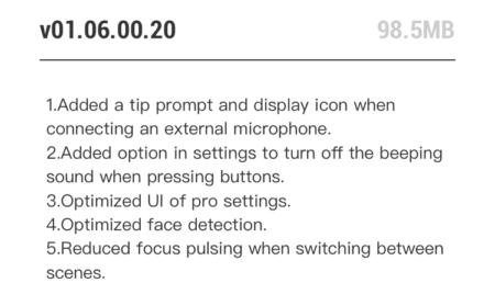 Osmo Pocket new firmware update coming!v01.06.00.20 April 2019.DJI Osmo Pocket latest news 2019