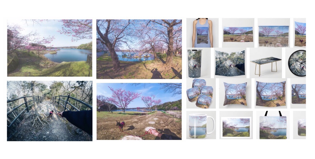 """I added new goods about """"Spring of Japan"""" on Society6!Photography themes : Dreamer's Vision""""Sakura""""/Follow me to/A Beautiful Things I Saw Today."""