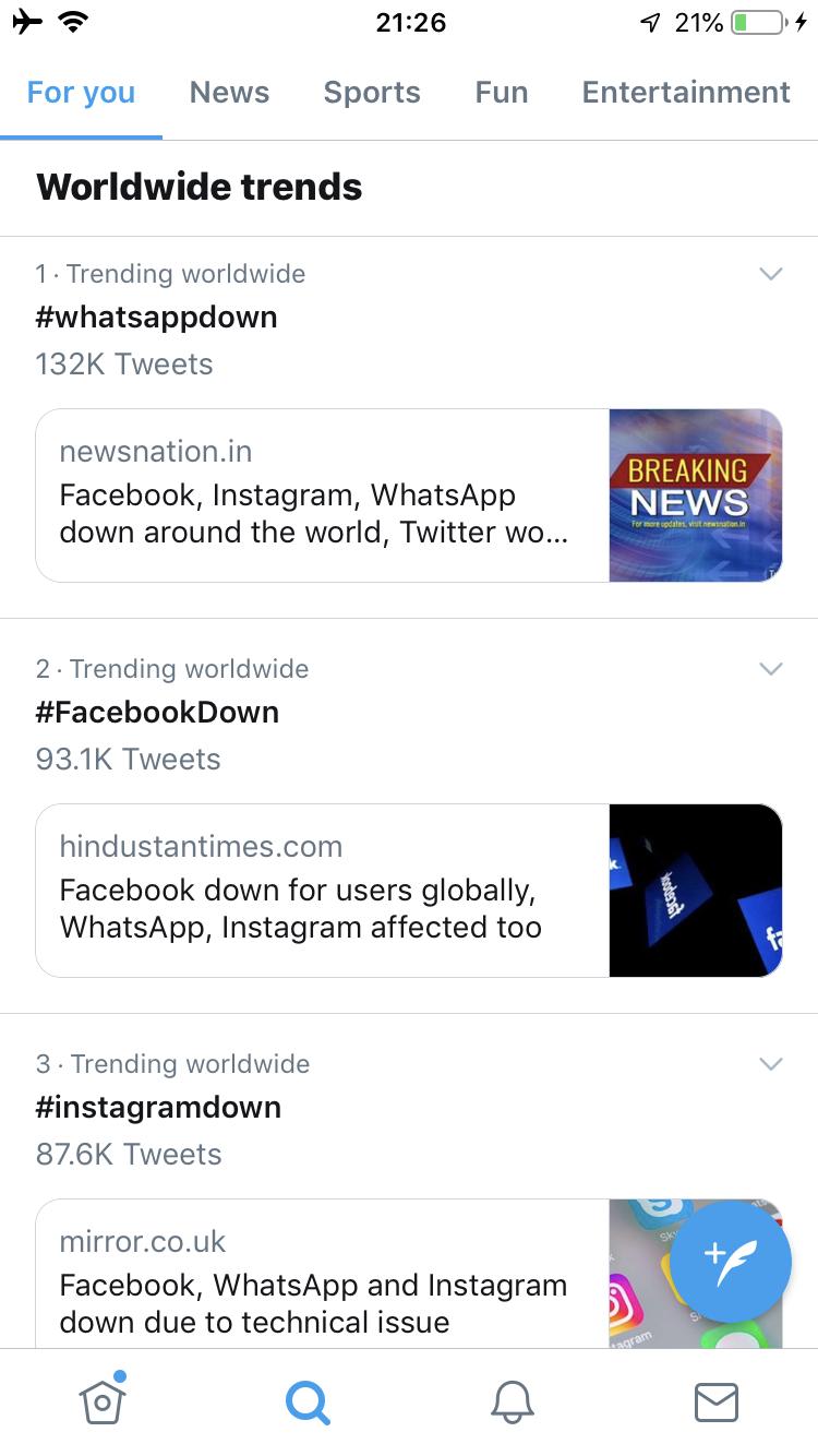 インスタ不具合発生中!2019年4月14日。Facebookも同時にダウン!先月も14日に10時間以上回復せず。Instagram最新ニュース速報