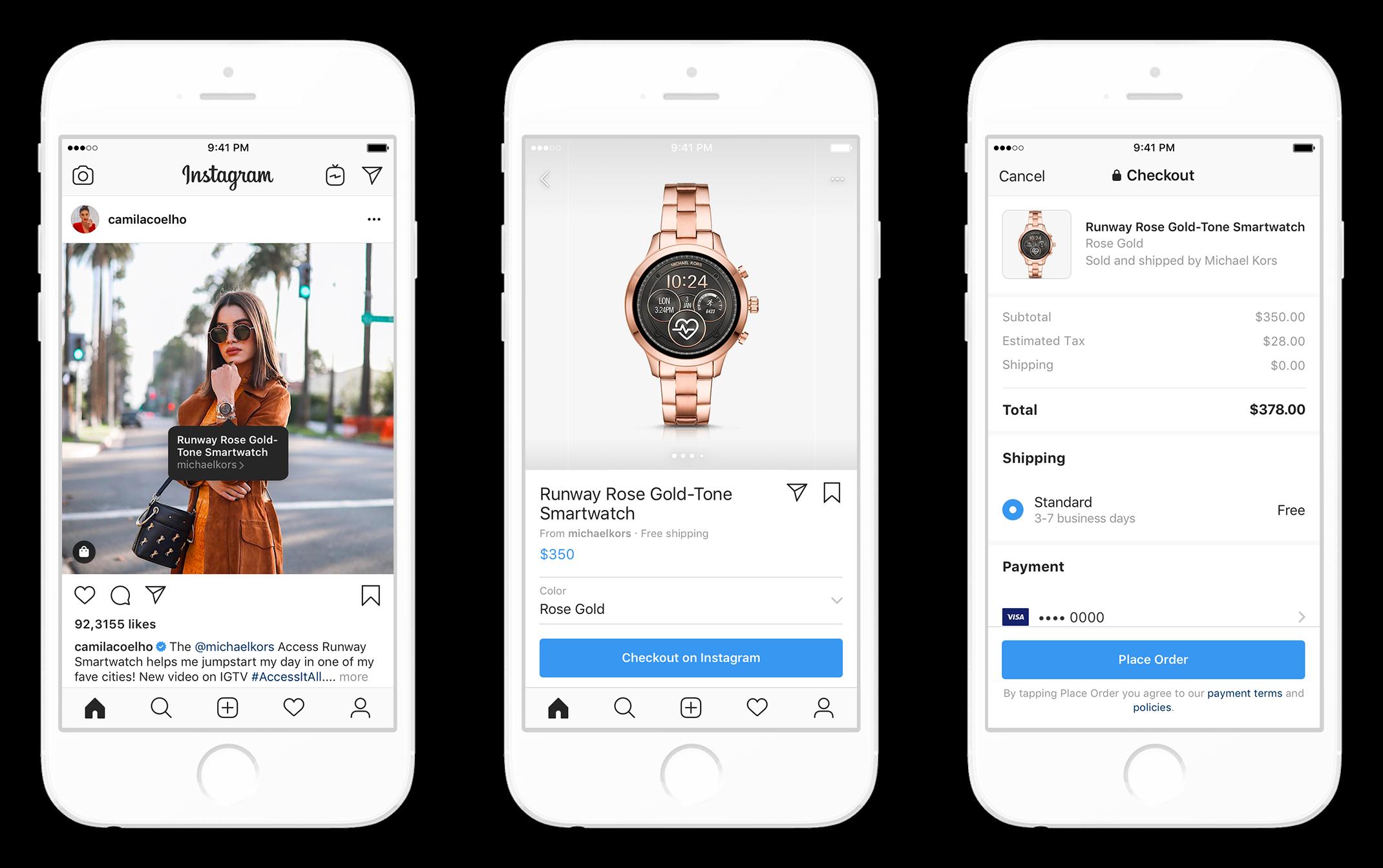 インスタ「チェックアウト」機能でインフルエンサー(クリエイターアカウント)から購入可能に!インスタアプリ離れることなく購入完了!Instagramショッピングチェックアウト最新情報2019