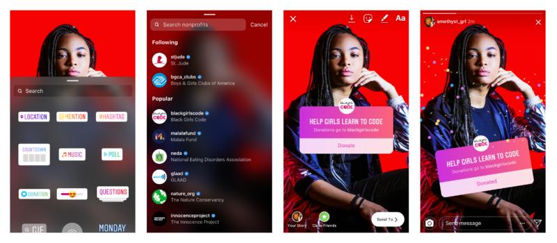 インスタグラム寄付ステッカーをf8で発表!前話あがったやつ。Instagram新機能アップデート最新情報2019