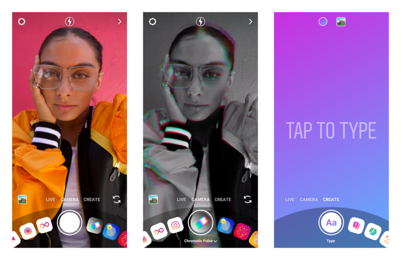 インスタストーリーズUI変更「クリエイトモード」カメラのモード切替ダイヤルみたいなのに。Instagram新機能アップデート最新ニュース速報2019
