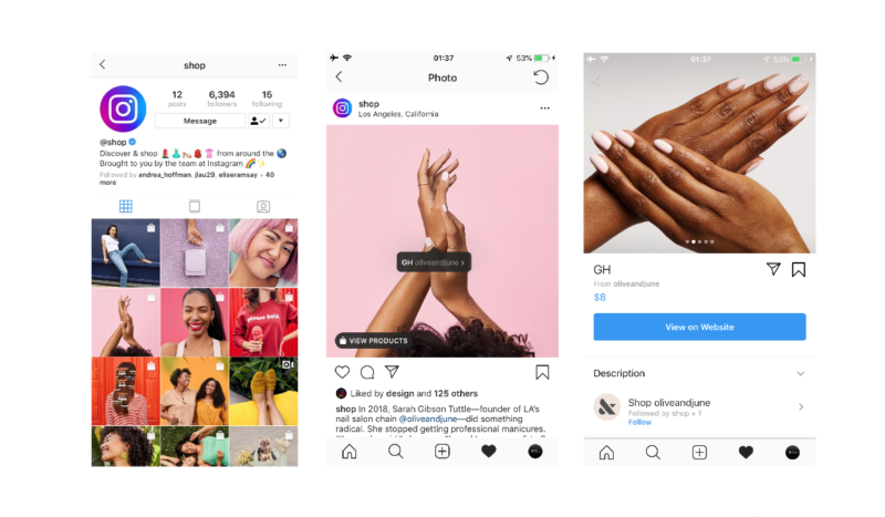 Instagram created @shop as new official account!Instagram latest news 2019